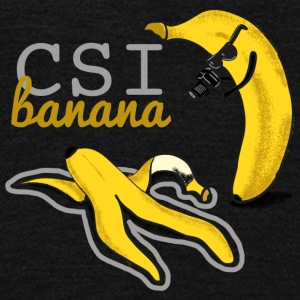 Banana geek funny csi - Unisex Fleece Zip Hoodie by American Apparel