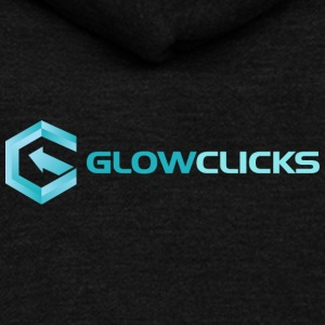 glowclicks Horizontal - Unisex Fleece Zip Hoodie by American Apparel