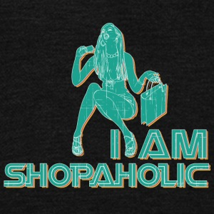 I_am_shopaholic_vintage - Unisex Fleece Zip Hoodie by American Apparel