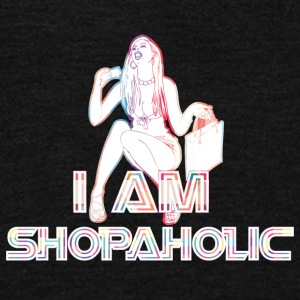 I_am_shopaholic - Unisex Fleece Zip Hoodie by American Apparel