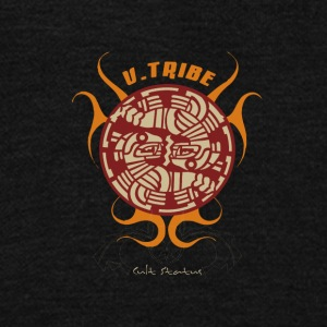 U-TRIBE STATUE - Unisex Fleece Zip Hoodie by American Apparel