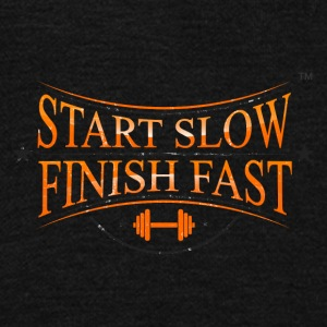 START SLOW FINISH FAST - Unisex Fleece Zip Hoodie by American Apparel