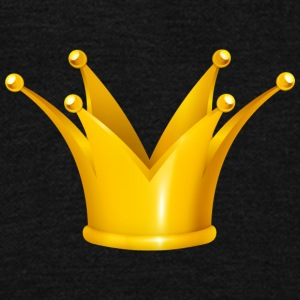 Royal King golden crown Monarch jewel - Unisex Fleece Zip Hoodie by American Apparel