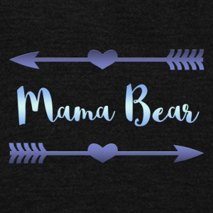 Mama Bear- Blue Gradient Design - Unisex Fleece Zip Hoodie by American Apparel