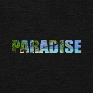 paradise - Unisex Fleece Zip Hoodie by American Apparel