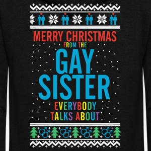 Merry christmas from the gay sister everybody talk - Unisex Fleece Zip Hoodie by American Apparel