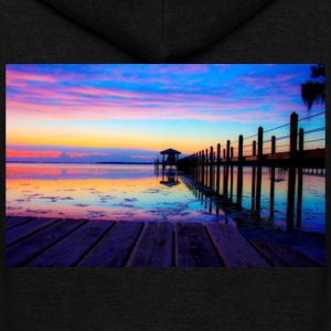 Colorful Sunset Clothing - Unisex Fleece Zip Hoodie by American Apparel