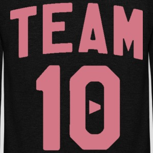 TEAM 10 TEN arc - pink - Unisex Fleece Zip Hoodie by American Apparel