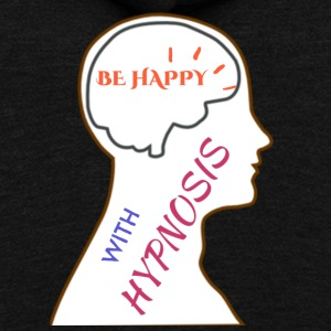Be happy w hynosis - Unisex Fleece Zip Hoodie by American Apparel