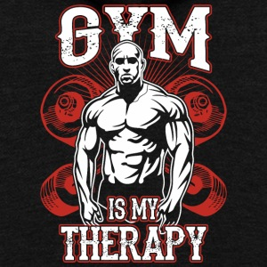 Gym Is My Therapy - Unisex Fleece Zip Hoodie by American Apparel