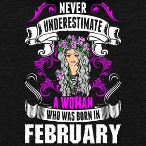 Never Underestimate A Woman Who Was Born In Februa - Unisex Fleece Zip Hoodie by American Apparel