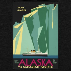 Alaska Cruise Taku Gacier - Unisex Fleece Zip Hoodie by American Apparel