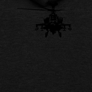 Military Attach Helicopter Gunship - Unisex Fleece Zip Hoodie by American Apparel