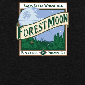 Forest Moon - Unisex Fleece Zip Hoodie by American Apparel