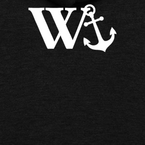 W Anchor Mens Funny Offensive - Unisex Fleece Zip Hoodie by American Apparel