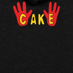 Cake - Unisex Fleece Zip Hoodie by American Apparel