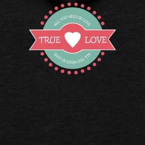 Valentine s Day True Love - Unisex Fleece Zip Hoodie by American Apparel