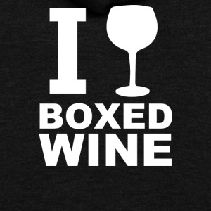 I Drink Boxed Wine - Unisex Fleece Zip Hoodie by American Apparel