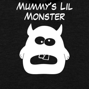 Mummys Little Monster - Unisex Fleece Zip Hoodie by American Apparel