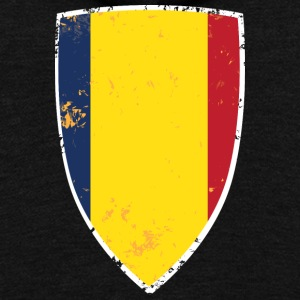 Flag of Romania - Unisex Fleece Zip Hoodie by American Apparel