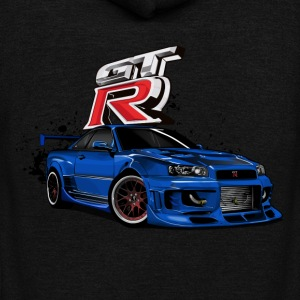 NISSAN GT-R R34 - Unisex Fleece Zip Hoodie by American Apparel