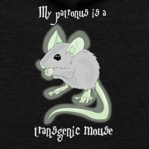 My Patronus is a Transgenic Mouse - Unisex Fleece Zip Hoodie by American Apparel