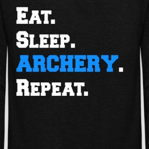 Cool Eat Sleep Archery Repeat Novelty Funny Shirts - Unisex Fleece Zip Hoodie by American Apparel
