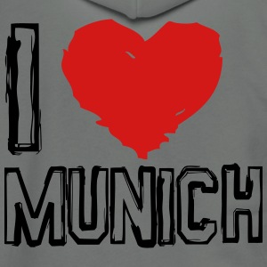I LOVE MUNICH - Unisex Fleece Zip Hoodie by American Apparel