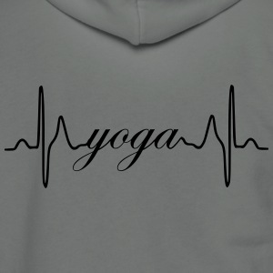 Yoga ECG Heartbeat - Unisex Fleece Zip Hoodie by American Apparel