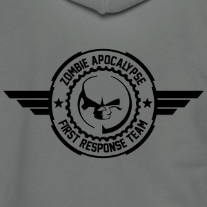 Zombie apocalypse first responder team - Unisex Fleece Zip Hoodie by American Apparel