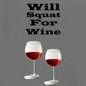 Will squat for wine - Unisex Fleece Zip Hoodie by American Apparel