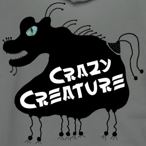 Crazy Creature - Unisex Fleece Zip Hoodie by American Apparel