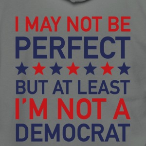 AT LEAST I'M NOT A DEMOCRAT T-SHIRT - Unisex Fleece Zip Hoodie by American Apparel