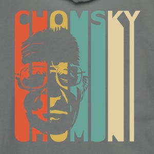 Retro Chomsky - Unisex Fleece Zip Hoodie by American Apparel