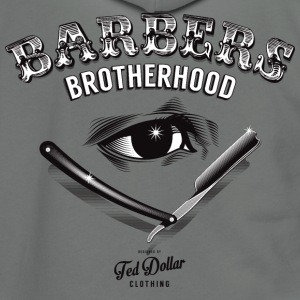 Barbers Brotherhood - Unisex Fleece Zip Hoodie by American Apparel