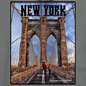 New York Brooklyn Bridge - Unisex Fleece Zip Hoodie by American Apparel