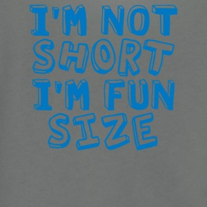 I m Not Short I m Fun Size - Unisex Fleece Zip Hoodie by American Apparel
