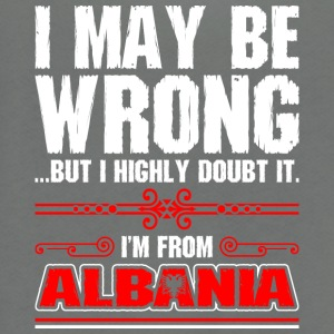 I May Be Wrong Im From Albania - Unisex Fleece Zip Hoodie by American Apparel