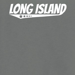 Long Island Retro Comic Book Style Logo - Unisex Fleece Zip Hoodie by American Apparel