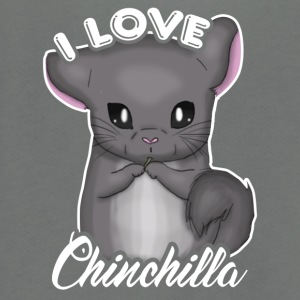 I Love Chinchilla Tee Shirt - Unisex Fleece Zip Hoodie by American Apparel