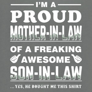 I'm a proud Mother-in-law shirt - Unisex Fleece Zip Hoodie by American Apparel