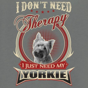 I don't need therapy I just need my yorkie - Unisex Fleece Zip Hoodie by American Apparel