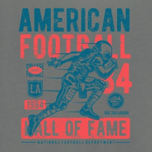 American Football Retro Vintage Distressed Design - Unisex Fleece Zip Hoodie by American Apparel