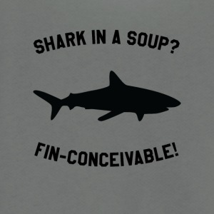 Shark In A Soup? FIN-CONCEIVABLE! - Unisex Fleece Zip Hoodie by American Apparel