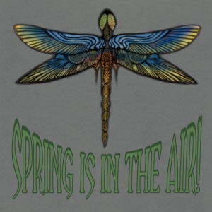 Spring is in the Air - Dragonfly - Unisex Fleece Zip Hoodie by American Apparel