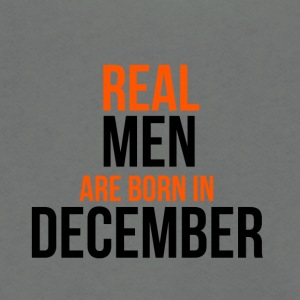 Real Men Are Born In December - Unisex Fleece Zip Hoodie by American Apparel