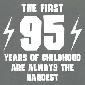 The First 95 Years Of Childhood - Unisex Fleece Zip Hoodie by American Apparel