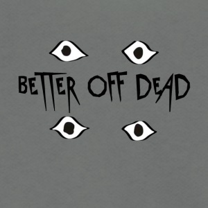 Better Off Dead Eyes - Unisex Fleece Zip Hoodie by American Apparel