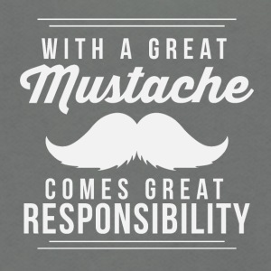 Great mustache comes great resposibility - Unisex Fleece Zip Hoodie by American Apparel