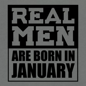 Real Men are Born in January - Unisex Fleece Zip Hoodie by American Apparel